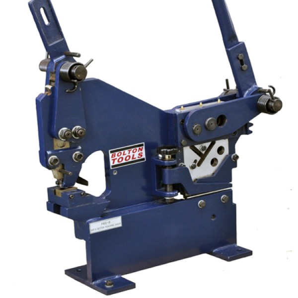 Manual Ironworker With Sheet Metal Punch Pbs 9