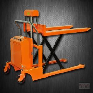 Hydraulic Hand Electric Scissor Pallet Truck | 2200 lb | EQSD100