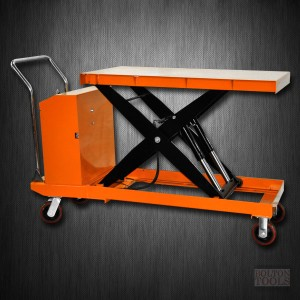 Hydraulic Hand Electric Table Truck | 2200 lb | ETF100D