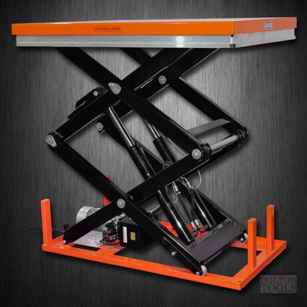 Hydraulic Lift Accessories : Industrial hydraulic electric lift table lb etw