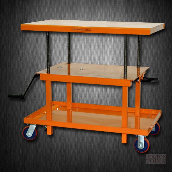 Mechanical Hand-Crank Hydraulic Lift Table | 2200 lb | MT2436
