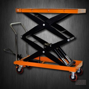 Hydraulic Double Scissor Lift Table Cart | 2200 lb | TF100SD