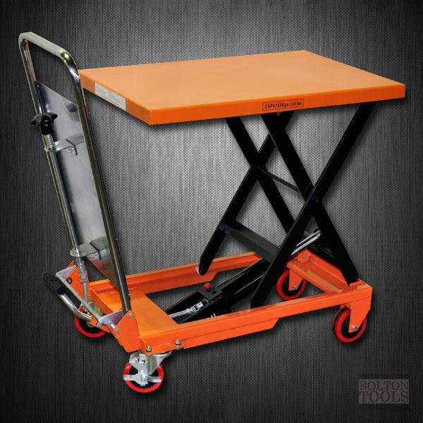 Hydraulic Scissor Lift Carts : Bolton tools lb hydraulic scissor lift table cart