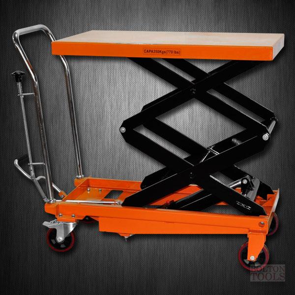 Hydraulic Double Scissor Lift Table Cart 770 Lb Tf35