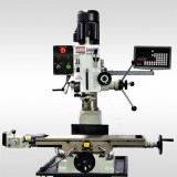 "9 1/2"" x 32"" GEAR-HEAD MILL DRILL WITH POWER FEED AND 2 AXIS DRO  